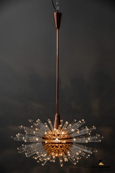 Miracle Sputnik Chandelier Vienna 1960s by Bakalowits