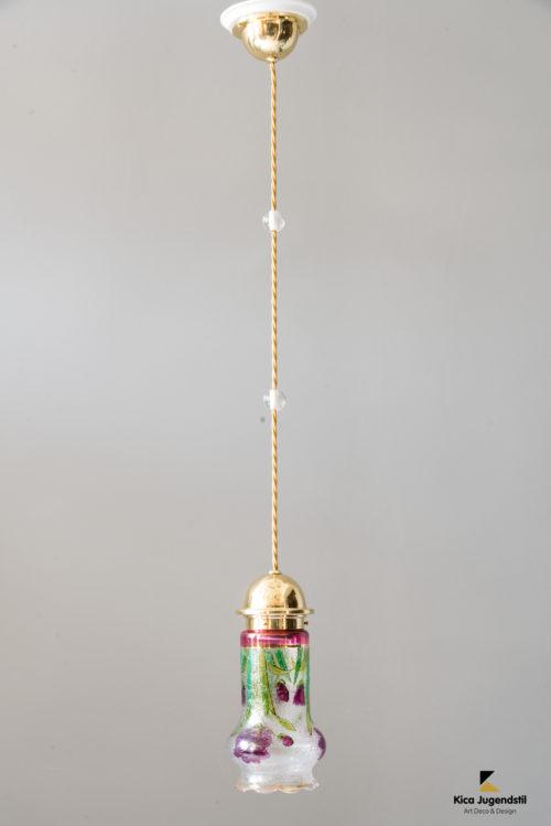 Jugendstil pendant circa 1909s with original glass