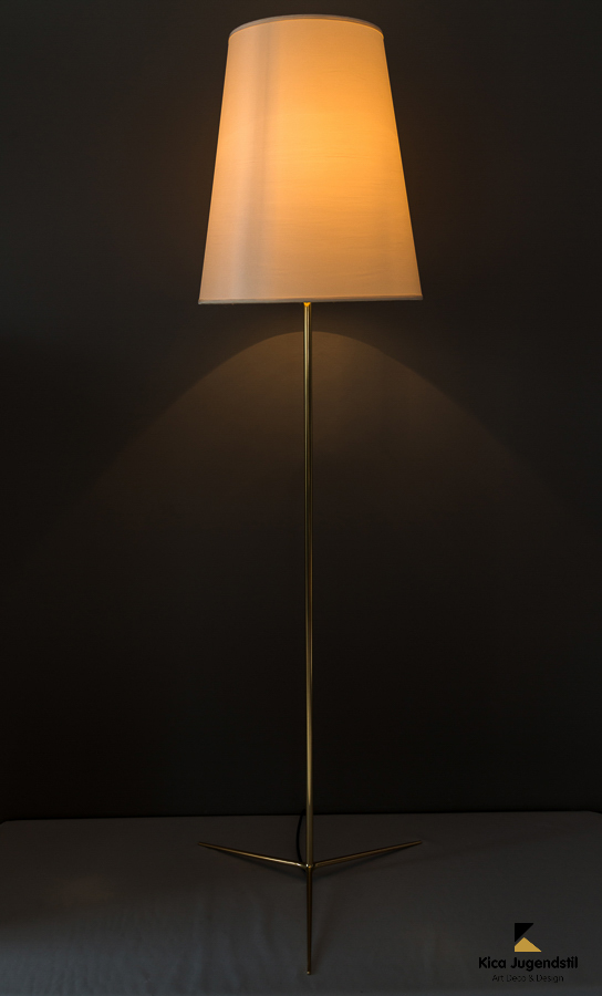 Kalmar floor lamp with fabric shade around 1950s