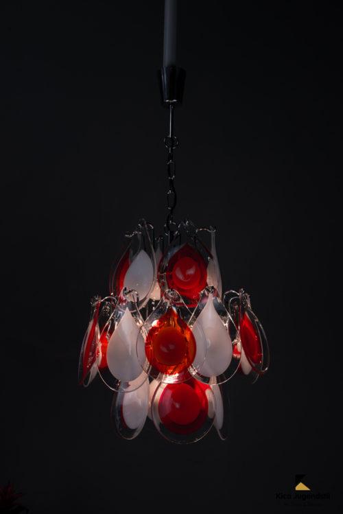 Gino Vistosi glass chandelier, 1960s Original condition.