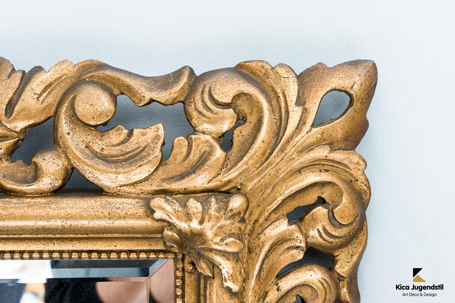 Gilt Florentine Wall Mirror Hand Carved, Austria, circa 1880