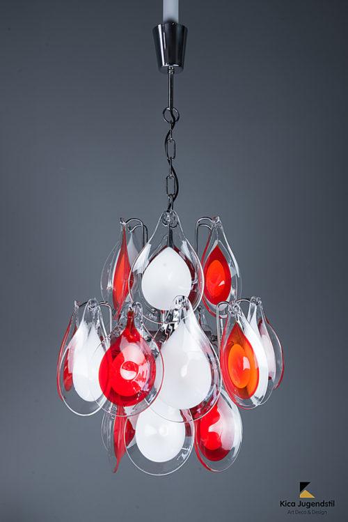 Gino Vistosi Glass Chandelier, 1960s