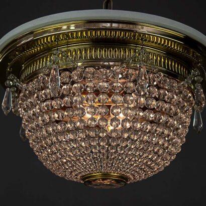 Big Art Deco ceiling lamp, Vienna, 1920s