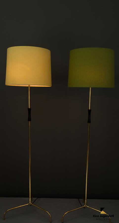 Two Rupert Nikoll Floor lamps around 1950s
