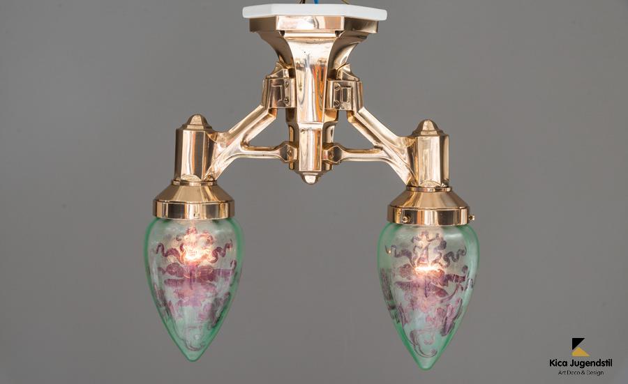 Beautiful ceiling lamp with original glass