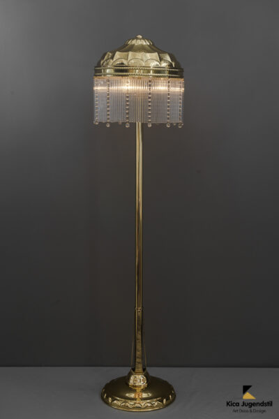 Extendable Art Deco Hammered Floor Lamp Vienna, circa 1920s