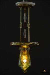 Jugendstil Pendant with Loetz Glass, Vienna, circa 1910s