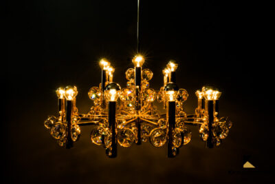 Big Chandelier in the Style of Palwa, Vienna, 1960s