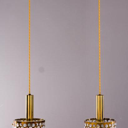 Glass pendant by Limburg, 1960s