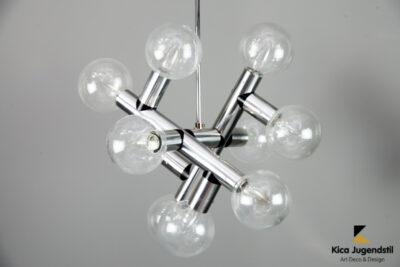 Kalmar Atomic Ceiling Lamps Chandeliers, 1960s