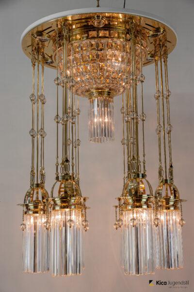 Magnificent and Huge Art Deco Chandelier Vienna, 1920s