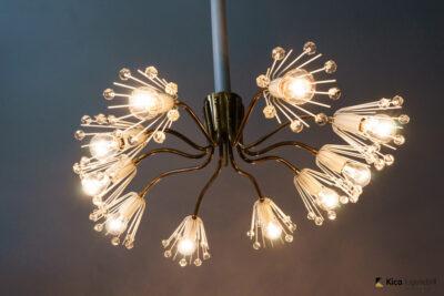 Rare Oval Emil Stejnar Ceiling Lamp, Vienna, circa 1950s