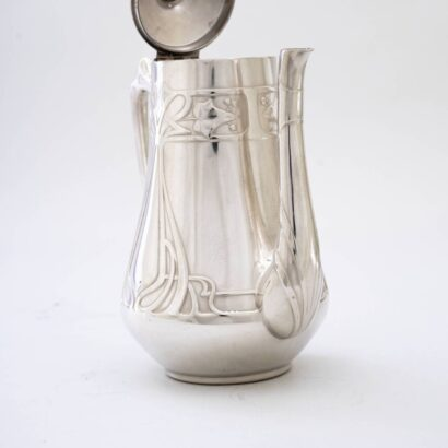 Jugendstil WMF breakfast set silvered, circa 1908