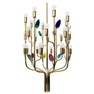 """J. T. Kalmar, """"Buntblatt"""" chandelier, Model No. 3748"""