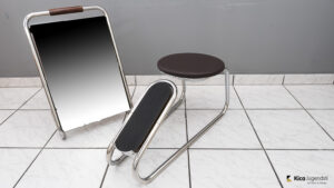 Shoe Stool with a Seat, and a Mirror Stand Set, Vienna, circa 1920s