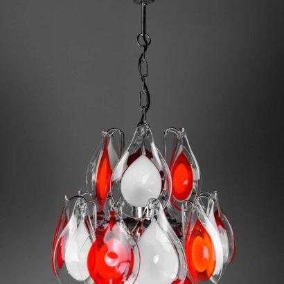 Glass Chandelier, 2000s, style of Gino Vistosi