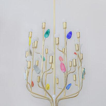 "Rare J. T. Kalmar, ""Buntblatt"" chandelier, Model No. 3748"