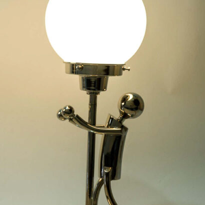 2 Rare Table Lamps in Style of Hagenauer, Vienna, circa 1920s