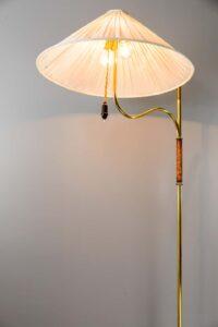 Rare Floor Lamp by Josef Frank, Execution J. T. Kalmar, Vienna, circa 1950s