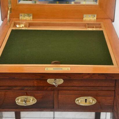 Viennese Convertible Chess Table in Rosewood Veneer