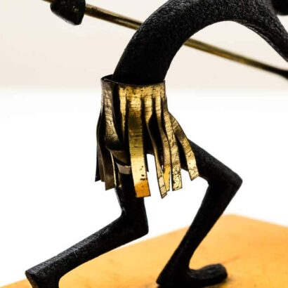 Pair of African Bronze Bookends Warrior by Franz Hagenauer, circa 1930s