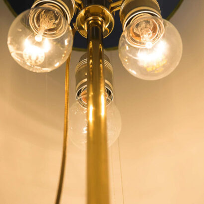 Floor Lamp, Vienna, circa 1960s with Glass Handle