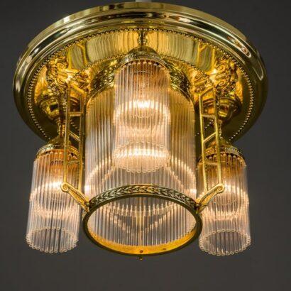 Jugendstil Ceiling Lamp, Vienna, around 1920s