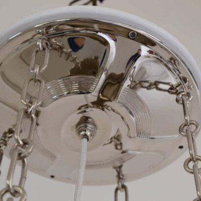 Pendant alpaca brass nickel-platend with cut-glass.