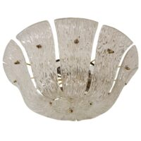 Kalmar Chandelier with Curved and Textured Glass