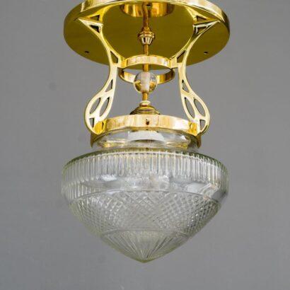 Art Deco Ceiling Lamp, Vienna Around 1920s