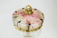 Jugendstil Table Lamp Around 1908 with Original Palme Koenig Glass Shade