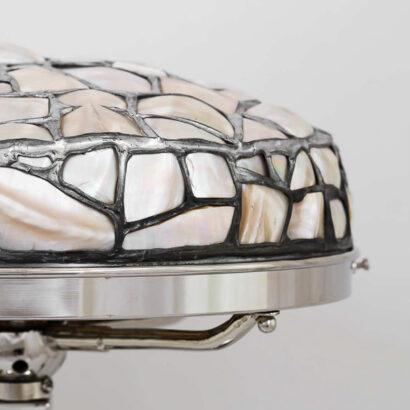 Art Deco Table Lamp, Vienna, Around 1910s 'Rare Model with Nacre Shade'