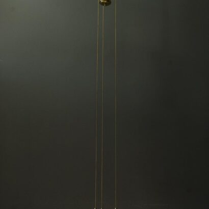 Adjustable Jugendstil Chandelier with White Opal Glass, circa 1907