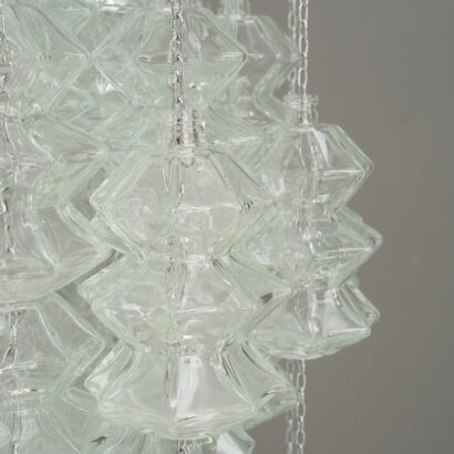 """Double """"Pagode"""" Pendant Chandelier by Kalmar, Vienna, c. 1960"""